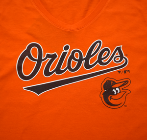 Baltimore Orioles Women's V-Neck T-Shirt