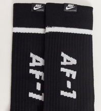 Load image into Gallery viewer, Black Nike Air Force Socks 2-Pack