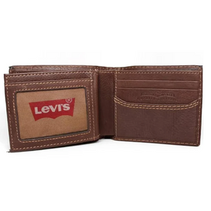 Levi's Slimfold Brown Leather Wallet