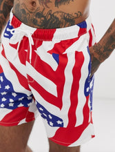 Load image into Gallery viewer, American Flag Swim Shorts