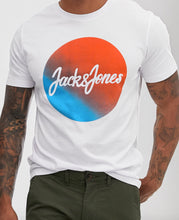Load image into Gallery viewer, Jacks & Jones Blue Orange Logo T-Shirt