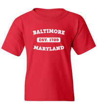 Load image into Gallery viewer, Kids Baltimore Maryland T-Shirt