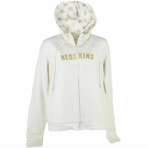 Washington Redskins Couture Cream & Gold Women's Hoodie