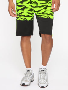 Neon Yellow and Black Shorts