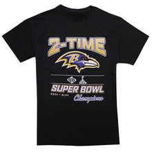 Load image into Gallery viewer, Baltimore Ravens 2-Time Champions T-Shirt