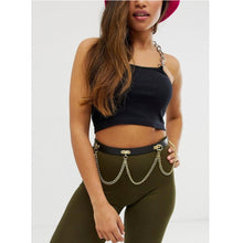 Load image into Gallery viewer, Gold Hanging Chain Waist and Hip Belt