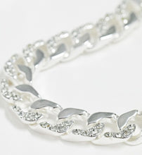 Load image into Gallery viewer, Silver-Tone Chain with Crystal Detail