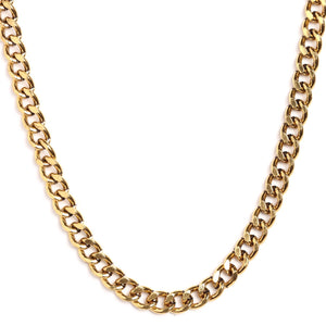 "22"" Gold Tone Cuban Link Chain"