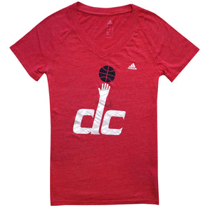 Washington DC Basketball Women's Adidas V-Neck T-Shirt