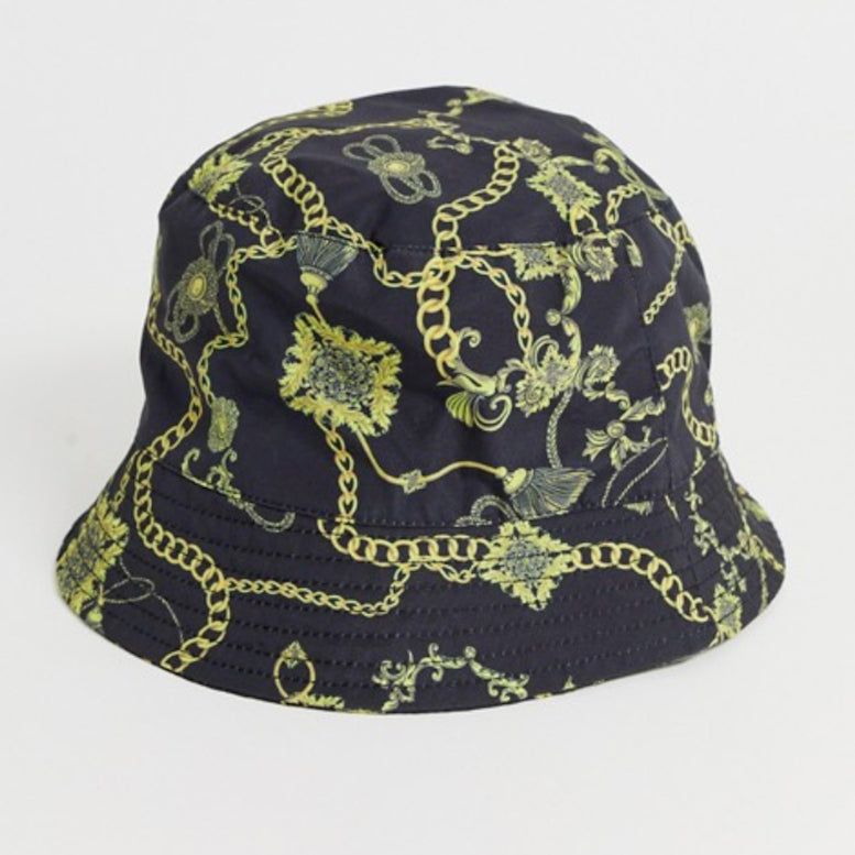 Gold Chain Print Bucket Hat