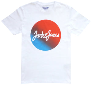 Jacks & Jones Blue Orange Logo T-Shirt