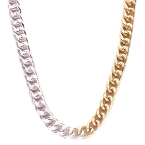 "Two Tone Cuban Link 24"" Chain"