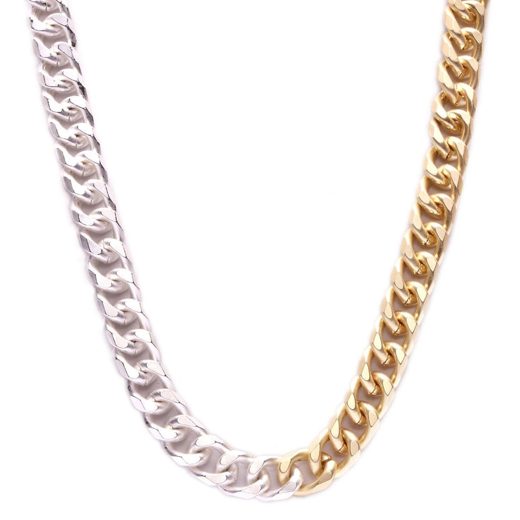 Two Tone Cuban Link 24