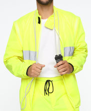Load image into Gallery viewer, Neon Reflective Jacket with Detachable Sleeves