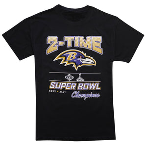 Baltimore Ravens 2-Time Champions T-Shirt