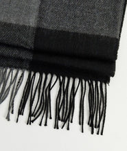 Load image into Gallery viewer, Charcoal and Black Scarf