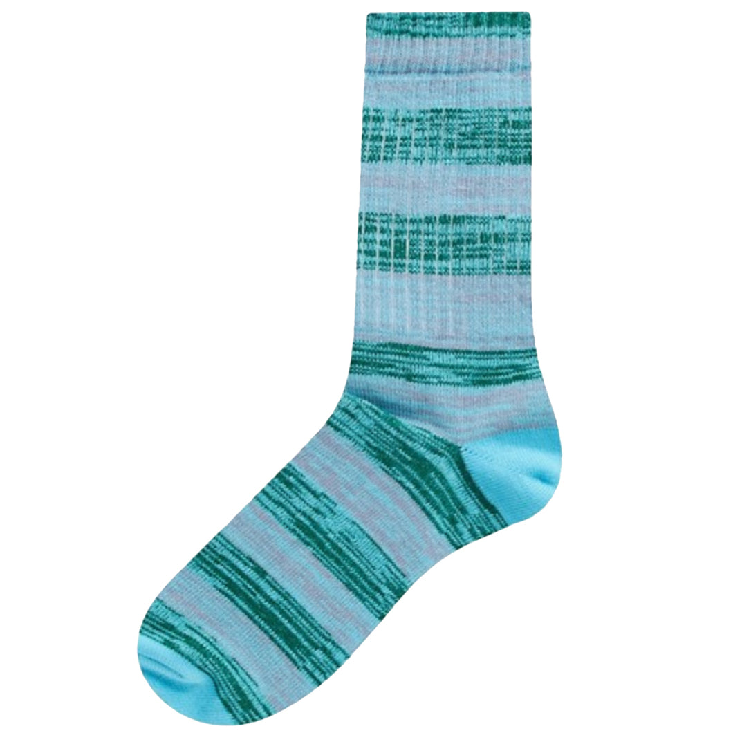 Ribbed Cuff Stretch Knit Socks