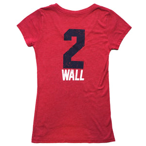 Washington Wizards John Wall Women's V-Neck T-Shirt