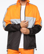 Load image into Gallery viewer, Orange Black Reflective Jacket
