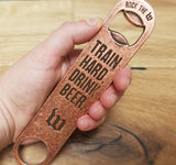 vintage copper custom die struck beer bottle opener