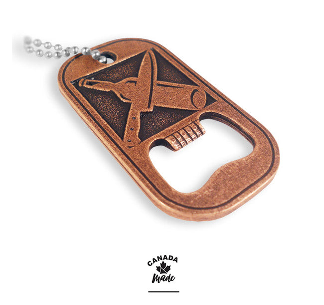 die cast custom dog tag bottle opener