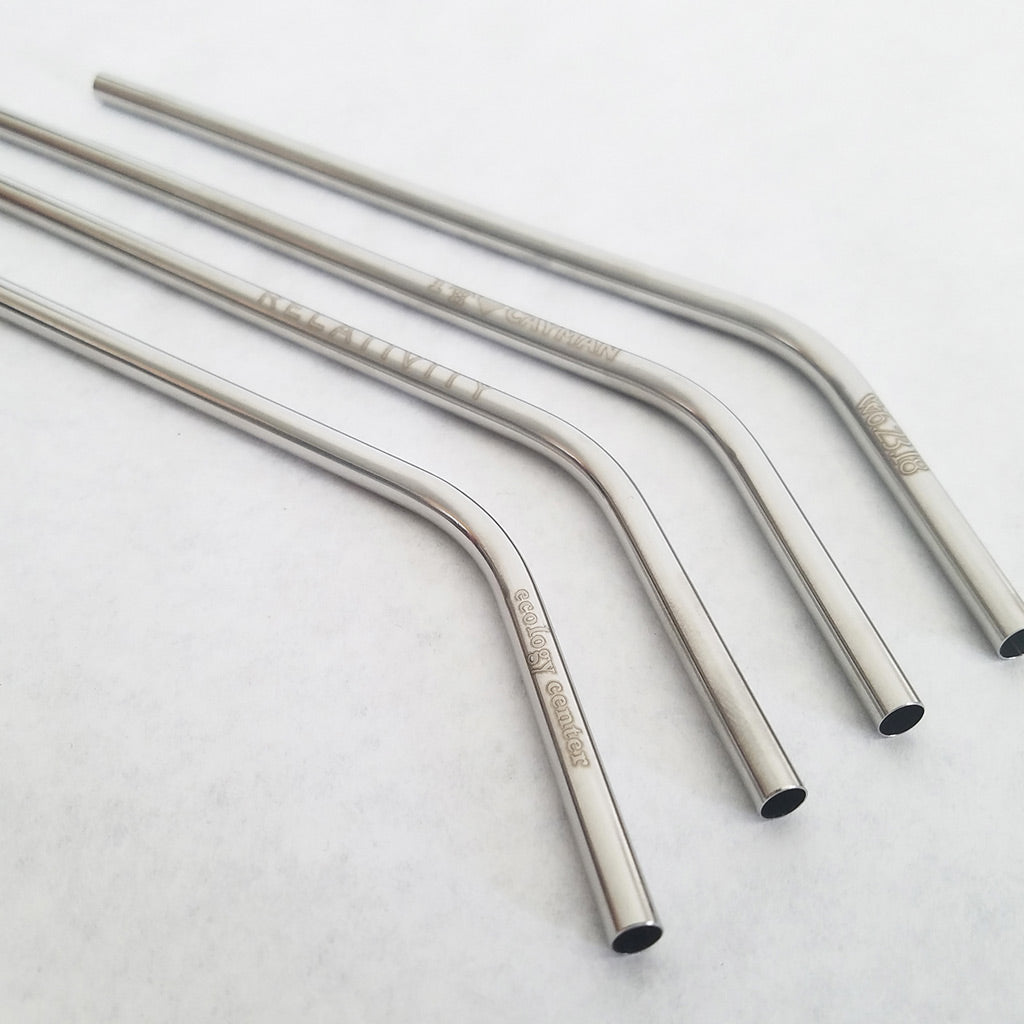 Stainless Steel Straws - Custom Printed Metal Straws w/ Your