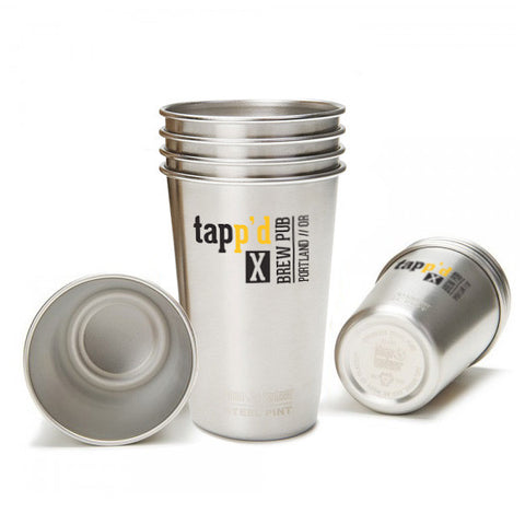 custom branded Klean Kanteen® stainless steel pint cups