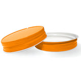 orange mason jar lids