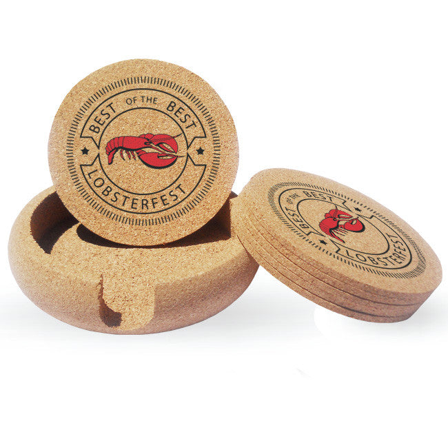 custom imprinted promotional cork coasters