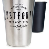 custom imprinted stainless steel pint cups