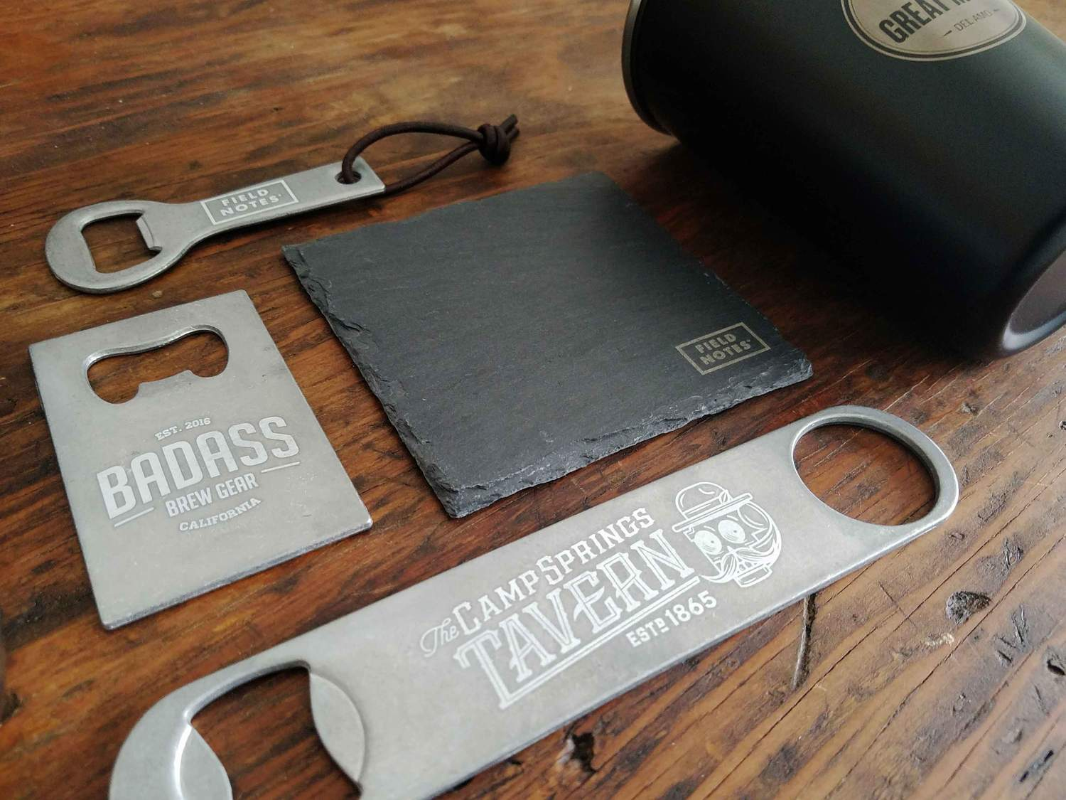 custom engraved barware and brewery gear