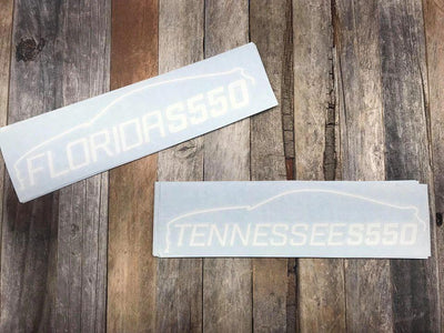 Tennessee S550 Window Decals - ParkerPerformance