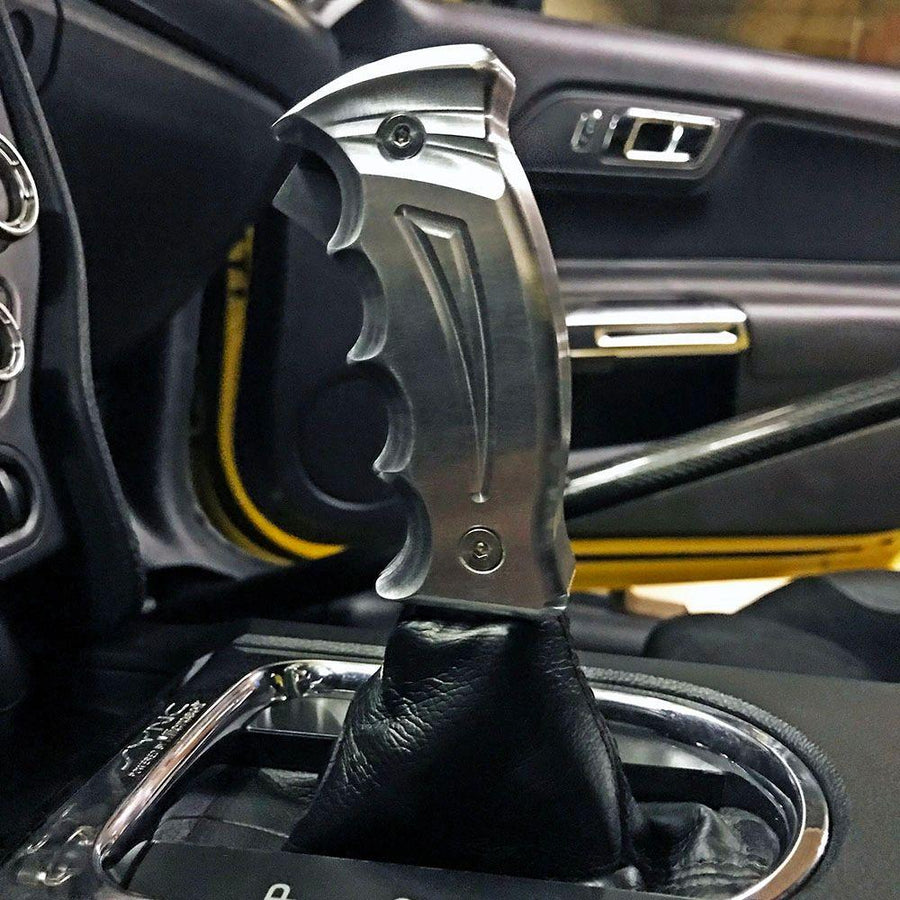 2015-2021 Ford Mustang S550 UPR Reaper Pistol Grip Billet Automatic Shift Handle GT Coyote Cyclone V6 Ecoboost Turbo - ParkerPerformance