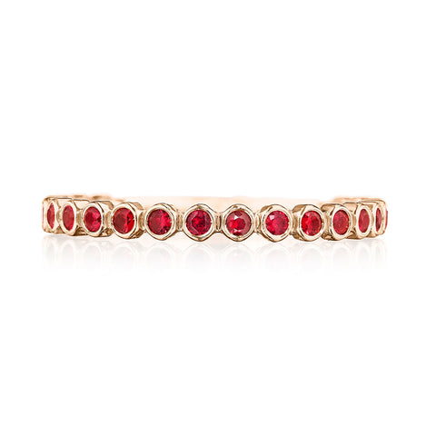 18K Yellow Gold Ruby Band