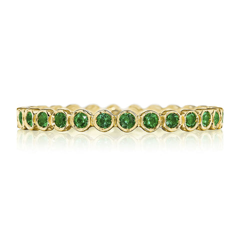 18K Yellow Gold Emerald Band