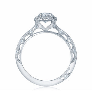 Platinum Oval Cut Diamond Halo Engagement Ring