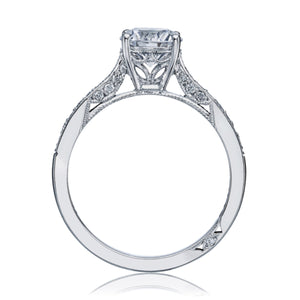 White Gold Round Engagement Ring