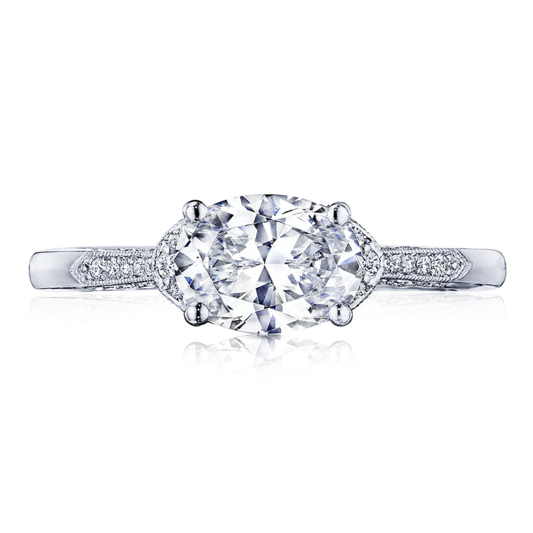 White Gold Oval Diamond Engagement Ring