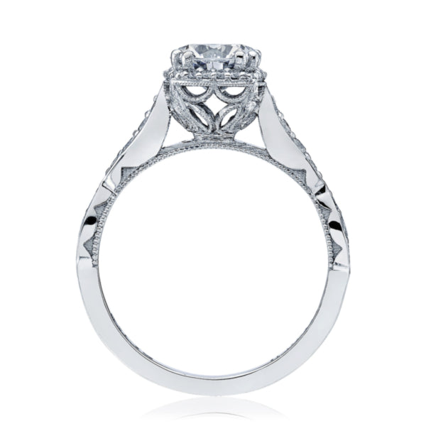 White Gold Round Halo Engagement Ring