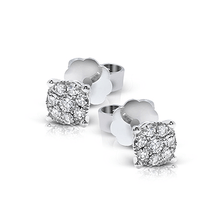 Load image into Gallery viewer, 18K White Gold Diamond Stud Earrings
