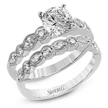 Load image into Gallery viewer, White Gold Round Diamond Engagement Ring