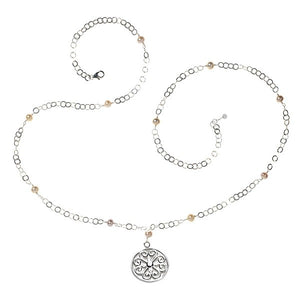 "Southern Gates® 22"" Hand Wrought Pearl Filigree Necklace"