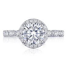 Load image into Gallery viewer, White Gold Round Diamond Halo Engagement Ring