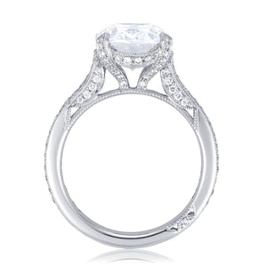Platinum Round Cut Diamond Engagement Ring