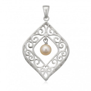 Southern Gates Framed Pearl Drop Pendant
