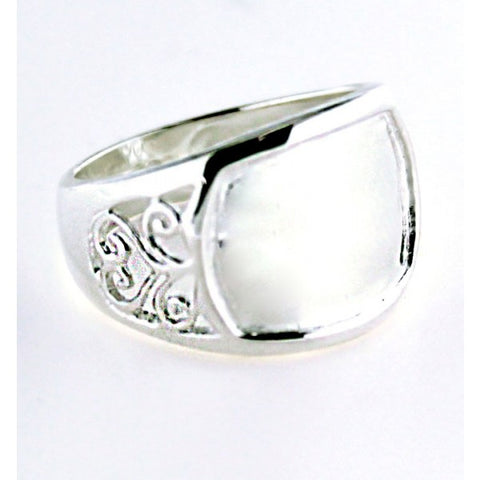 Southern Gates Engravable Filigree Ring