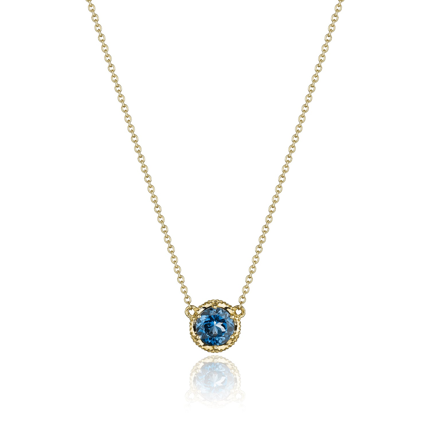 Petite Crescent Station Necklace featuring London Blue Topaz