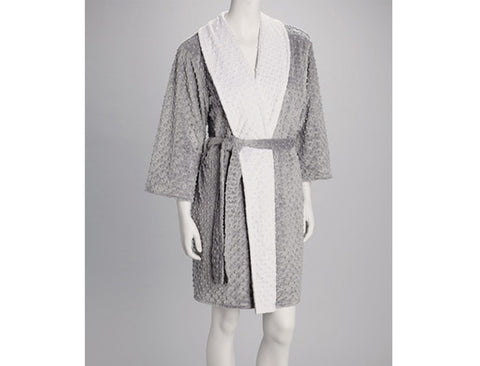 Minky Chenille Adult Reversible Robe
