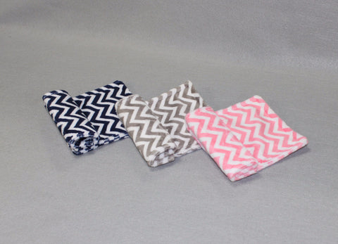 Minky Chenille Double Mini Chevron Strap Covers