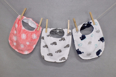 Minky Chenille Playful Prints Bib